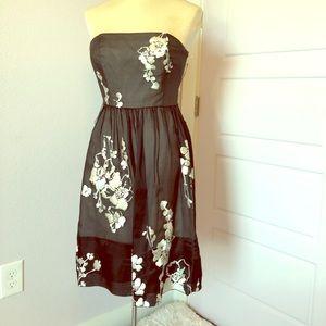 Whbm strapless cocktail dress